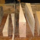 Wedges Cut From New Jersey Hardwood