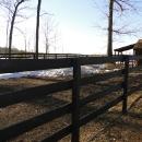 Oak Four Board Fence