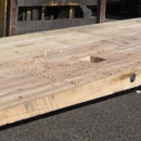Hardwood Ramp For Crane Use