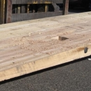 Hardwood Ramp For Crane Use