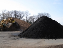 Mulch Stored On Blacktop