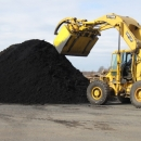 Preparing To Load Black Dyed Mulch