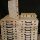 Outrigger Pads Stacked in Two Rows