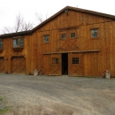 Barn With Flitch Cut Siding