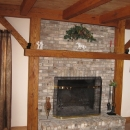 Surfaced Oak Beams Used For A Fireplace