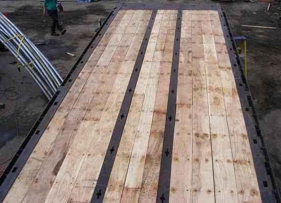 Rough cut oak trailer flooring carpet vidalondon for 6 metre lengths of decking