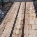 Flatbed Trailer With Oak Decking