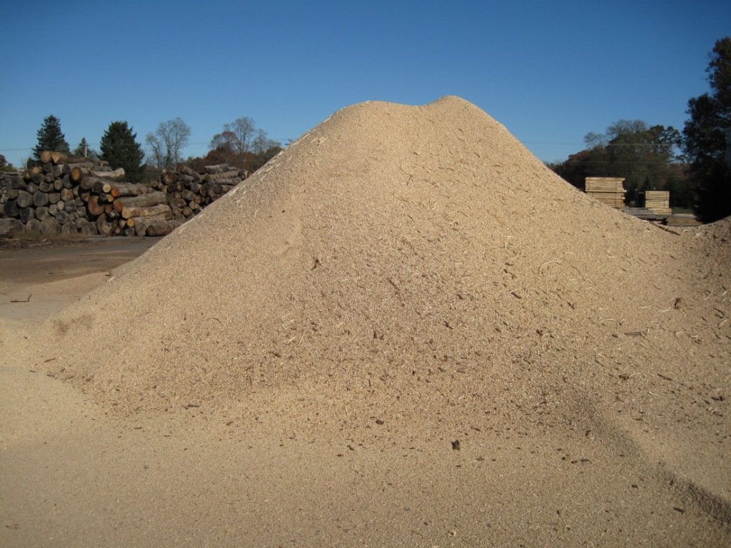 A Pile Of Hardwood Sawdust