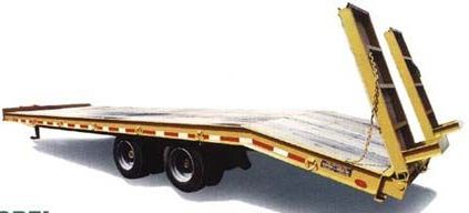 A Trailer With Wooden Decking